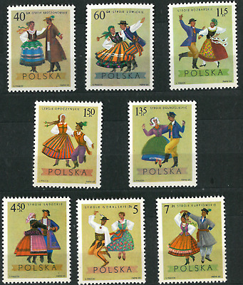 Poland 1969 : Folk costumes    // Set of 8 stamps