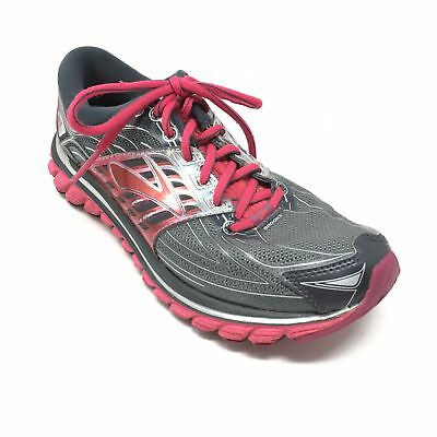 7274e29d905 Women s Brooks Glycerin 14 Shoes Sneakers Size 8.5B Running Gray Pink Red U7