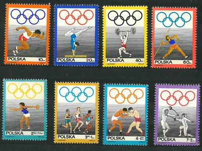 Poland 1969 : National Olympic Committee   // Set of 8 stamps
