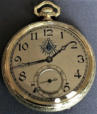 Dudley Masonic Watch Model#2 - Super Rare Masonic Dial Great Condition