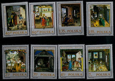 Poland 1969 : Trades in paintings  // Set of 8 stamps