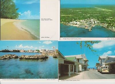 11 used/unused Cayman Islands PPC's of many different scenes