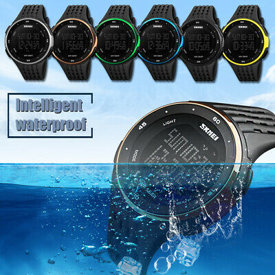Digital Watch Sport Quartz Wrist Men Women Alarm Waterproof Military SKMEI LED