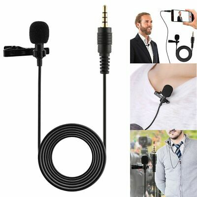 3.5mm Clip On Lapel Microphone Mini Lavalier Mic For Smart Phone PC Recording