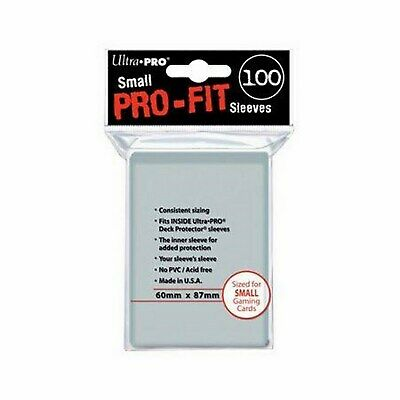 100 Deck Protector Sleeves Ultra Pro Yugioh SMALL PRO-FIT Pro Fit Bustine