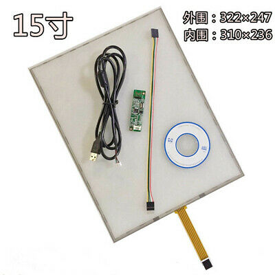 2x 5 Wire Resistive Touch Screen Panel Extension Cable for EEIT Controller Card