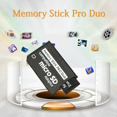 UK Micro-SD SDHC TF To Pro Duo Memory Stick MS Adapter Card for Sony-Cameras PSP