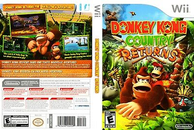 Nintendo Wii Replacement Game Case and Cover Donkey Kong Country Returns