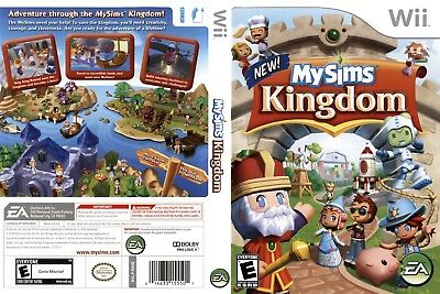 Nintendo Wii Replacement Game Case and Cover MySims Kingdom