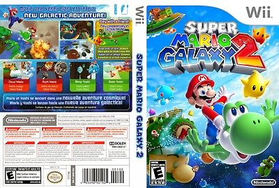Nintendo Wii Replacement Game Case and Cover Super Mario Galaxy 2