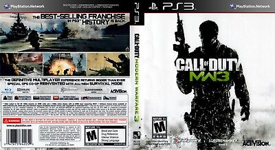 Sony Ps3 Replacement Game Case and Cover Call of Duty: Modern Warfare 3