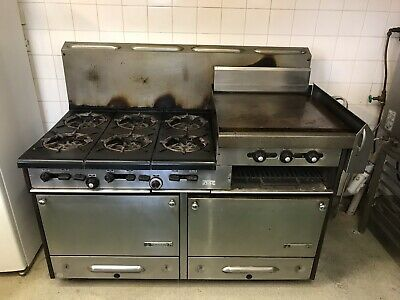 6 burner stove/2 ovens/ flat grill/ salamander all in one