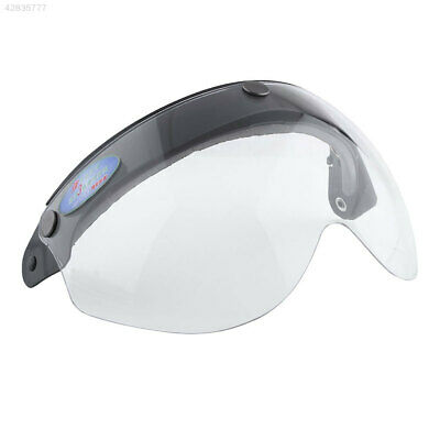 Universal Motorcycle Biker Helmet 3-Snap Face Visor Wind Shield Flip Up Clear