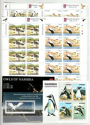 A106555/ Namibie / Namibia / Bird / Lot 1997 - 1999 Neuf ** / Mnh Complete