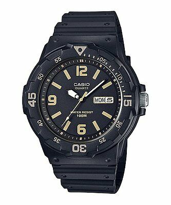 MRW-200H-1B3 Black Casio Men's Watches Resin Band Analog New