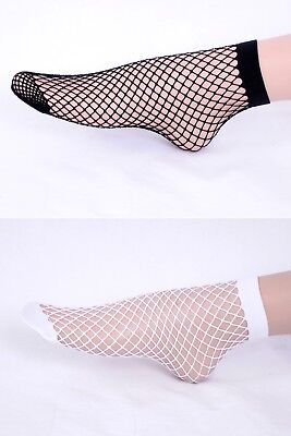 2 x LYCRA STRONG FENCE NET LOLITA STYLE ANKLE SOCKS  Miss Jane 0122