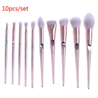 10pcs Pro Makeup Brushes Set Foundation Blush Beauty Cosmetic Brush ToolsDR