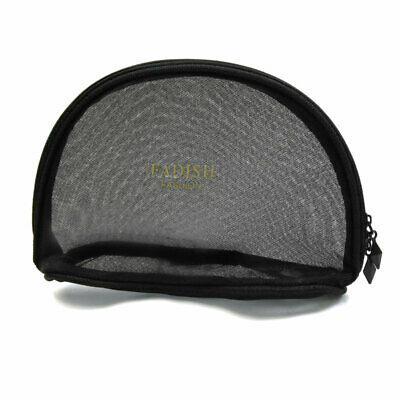 Shell Shaped Zipper Mesh Portable Travel Cosmetic Toiletry Bag Storage Pouch