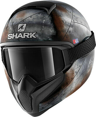 Casco Moto Integrale Lente Shark Vancore 2 Flare KAO Matto Naked Streetfighter