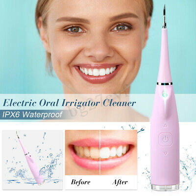 Portable Oral Irrigator Electric Dental Water Flosser Tooth Cleaner Rechargable
