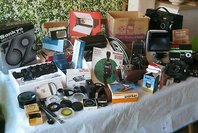 Job lot of miscellaneous photography & cine equipment CONDITION UNKNOWN