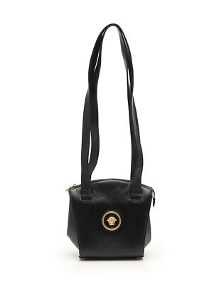 c662c72f9141 GIANNI VERSACE MEDUSA shoulder bag leather black vintage -  291.00 ...