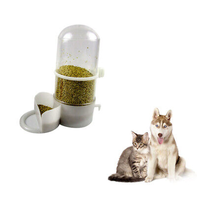 New Automatic Pet Dog Cat Feeder Water Food Bowl Dish Auto Holiday Dispenser &