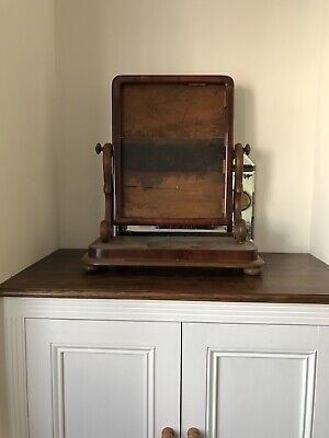 Antique 19th Century Mahogany Dressing Table Mirror In Need Of A Mirror !