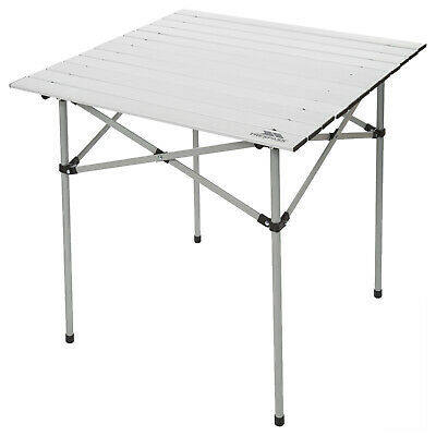 Trespass Folding Camping Table Square Portable From Aluminium and Steel