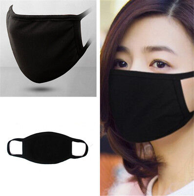 1pc Unisex Cycling Anti-Dust Cotton Mouth Face Respirator Mask Winter Black