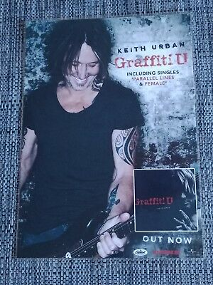 Keith Urban - Graffiti U  - Laminated Promotional Poster
