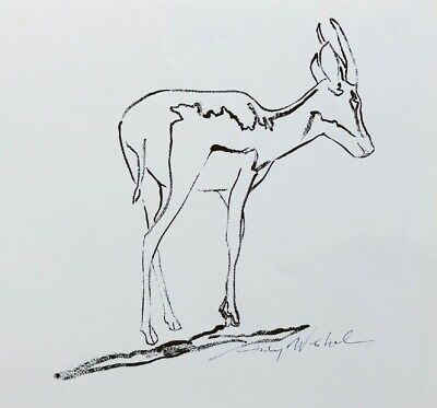 """Andy Warhol, """"Sömmerring's Gazelle"""" Hand signed Print, 1986 with COA"""