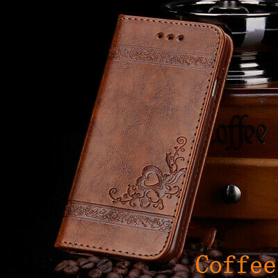 Leather Flip Wallet Case For iphone XS MAX XR 5 5s SE With Card Slot Print Cover