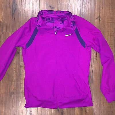 Women s Rare Nike Reversible Jacket Mesh Ath Elite Hidden Hood Gold Dri-Fit-  L 10cc816db