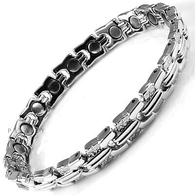 MAGNETIC BRACELET pain relief carpal tunnel arthritis Ladies Womens silver NEW