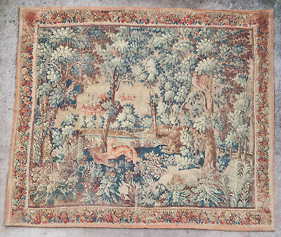 Tapestry rug carpet antique European Europe French France 1980