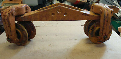 American Monorail Beam Trolley Vintage Cast Iron