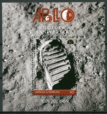 Antigua & Barbuda 2018 MNH Apollo 11 Moon Landing 1v S/S Space Stamps