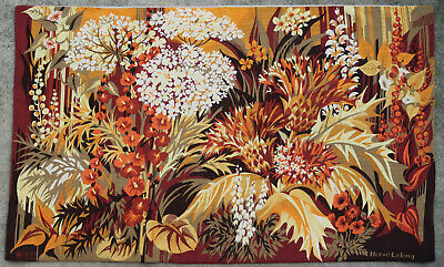 Tapestry rug carpet antique European Europe French France Aubusson 1970
