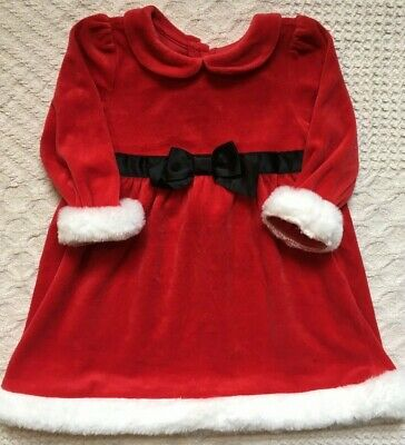 0b553d699ec Gymboree Toddler Girls Santa Holiday Christmas Red Velvet Dress 18-24 Months