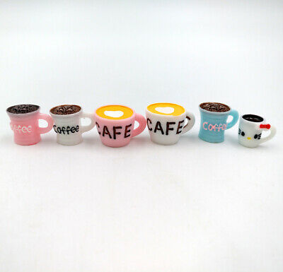 6pcs Littlest Pet Shop Gift DIY CAFE Coffee Cup 0.59'' Slime LPS Accessories