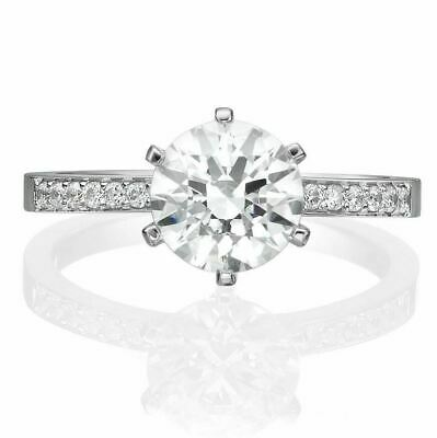 2.00 Ct Bridal Round Cut Forever Diamond Engagement Ring Solid 14K White Gold