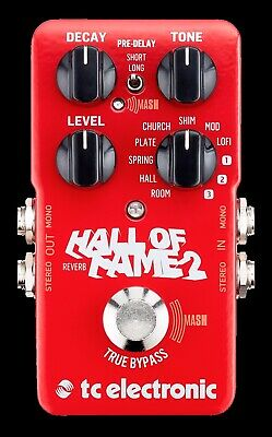 New TC Electronic Hall of Fame 2 Reverb Guitar Live & Studio Effects Pedal