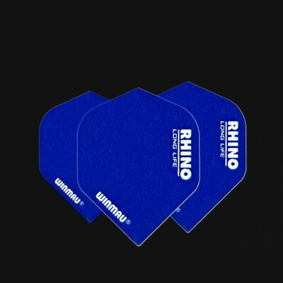 Winmau Rhino Super Thick dart flights blue