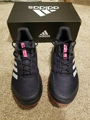half off 57d5d 524ec Mens Adidas Adizero Club 2 Tennis Shoes Ink BlackPink Sz 12
