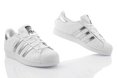 huge selection of 4a755 184e2 Scarpe Nuovo Adidas Superstar Bianco Donna da Ginnastica pelle Aq3091 Top