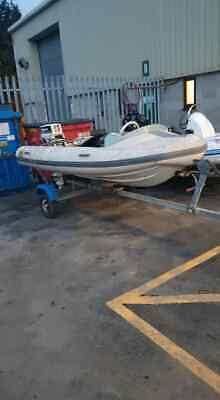 FLATACRAFT Rib/boat 5.5 Zodiac Pro, with road going easy launch  with trailer