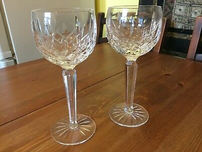 Set of two Waterford crystal goblets