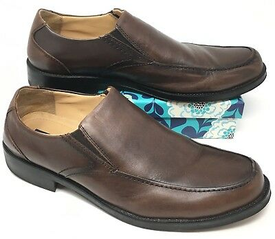 ff824b3b084 Men s GH Bass   Co Simon Size 11M Loafers Shoes Brown Leather Side Stretch  R7