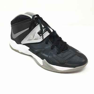 Men s Nike Zoom Soldier VII Shoes Sneakers Size 9 Black White Gray Lebron  AC11 1ae3f0fda